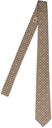 Gucci All Over GG Logo Bee Print Tie
