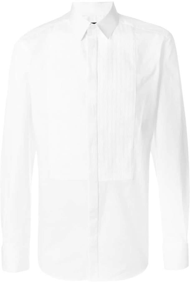 Dolce & Gabbana ribbed bib shirt