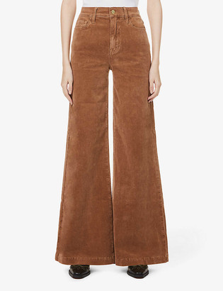 Frame Le Palazzo wide-leg high-rise stretch-corduroy jeans