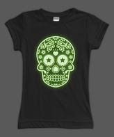 Urban Smalls Black Glow Sugar Skull Fitted Tee - Toddler & Girls