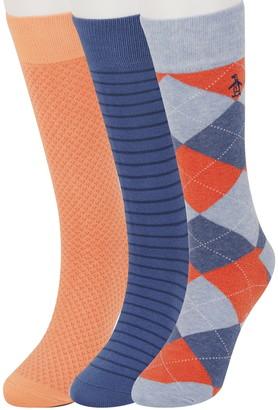 Original Penguin Mark Argyle Socks - Pack of 3