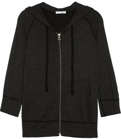 James Perse Hooded cotton-blend French terry jacket