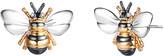 Bumble Bee Sevil Designs Women's Earrings Gold - Tri-Tone Stud Earrings