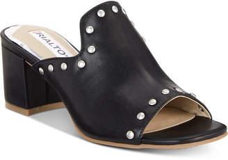 Rialto Stephy Studded Block-Heel Slide Sandals Women Shoes