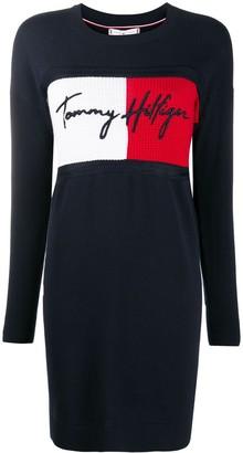 Tommy Hilfiger Logo Jumper Dress