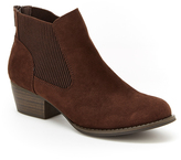 UNIONBAY Brown Harper Ankle Boot - Women