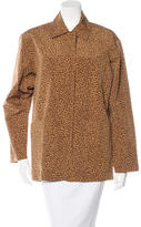 Bottega Veneta Single-Breasted Cheetah-Print Jacket