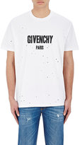 Givenchy Men's Logo Distressed Jersey T-Shirt