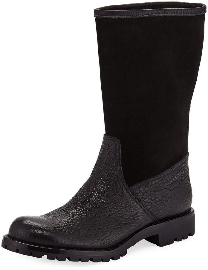 Gravati Leather and Suede Mid-Calf Boots