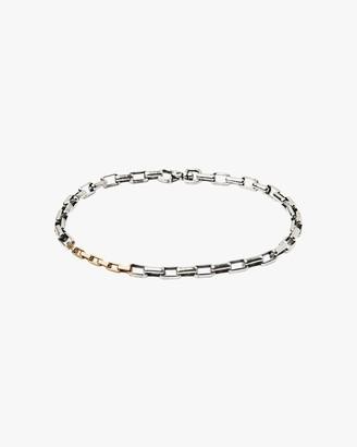 Title Of Work Unisex Two-Tone Box Chain Bracelet
