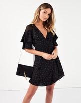 Fashion Union Polka Dot Spot Wrap Dress