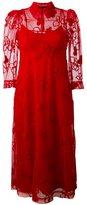 Simone Rocha floral embroidery dress - women - Polyamide/Polyester/Spandex/Elastane/Wool - 10