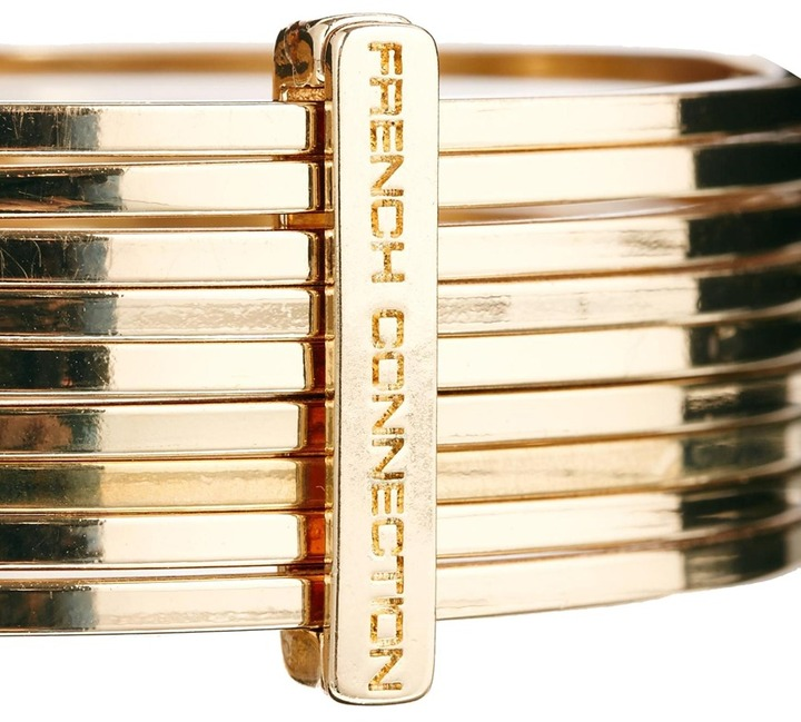 French Connection Metal Bangle Stack