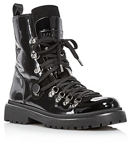 Moncler Women's Berenice Patent Leather Hiker Boots