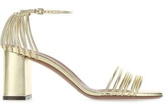 L'Autre Chose Ankle Strap Metallic Sandals