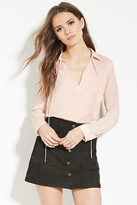 Forever 21 Contemporary Satin Blouse