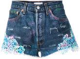 Forte Couture - Tropez Graffiti denim shorts - women - Cotton - 26