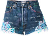 Forte Couture - Tropez Graffiti denim shorts - women - Cotton - 28