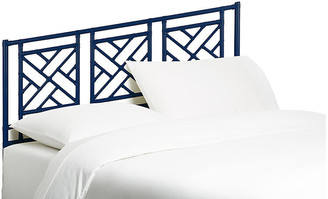 David Francis Furniture Chippendale Headboard - Navy Queen
