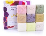 Pre de Provence French Soap Assorted Boutique Luxury Gift Box (Set of 9), Scented Herb