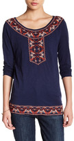 Lucky Brand Paisley Embroidered Blouse