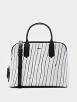 DKNY Saffiano Twine Stripe Satchel