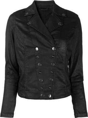 Diesel Press Stud Fastened Biker Jacket