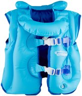 Aqua Leisure Fabric Lined Inflatable Swim Vest, removable collar, adj. buckles, Blue