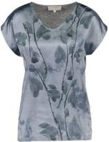 Cream MALINA Print Tshirt dusty blue
