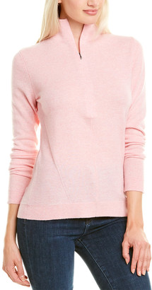 Forte Cashmere Fitted Zip Cashmere Pullover