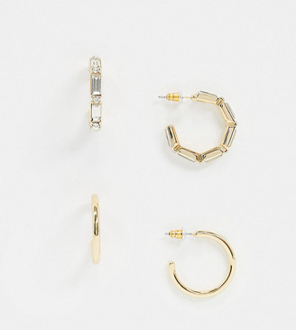 Accessorize Exclusive tube earrings multipack in gold