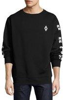 Marcelo Burlon County of Milan Rey Numbers-Print Sweatshirt, Black