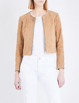 Sandro Panelled suede jacket