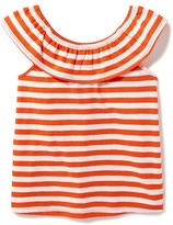 Old Navy Striped Ruffle-Trim Top for Toddler