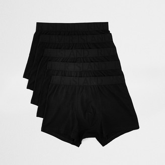 River Island Big and Tall black trunks 5 pack