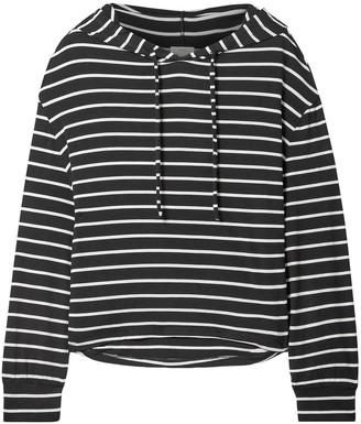 Eberjey Hooded Striped Jersey Pajama Top