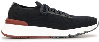 Brunello Cucinelli Lace-Up Mesh Sneakers