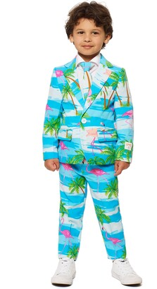 OppoSuits Flaminguy Two-Piece Suit with Tie