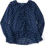 Ralph Lauren Ruffled Cotton Batiste Shirt