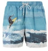 HUGO BOSS - Quick Dry Photo Print Swim Shorts With SeaqualTM Yarns - Open Green