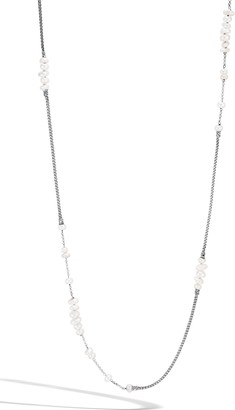 John Hardy Classic Chain Pearl Station Necklace