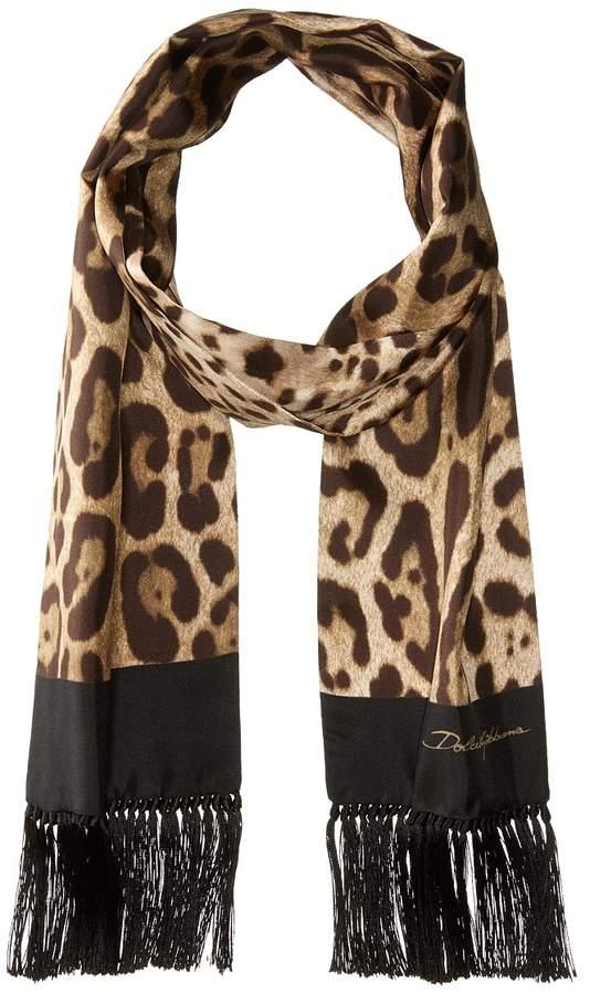 Dolce & Gabbana Leopard Scarf Scarves