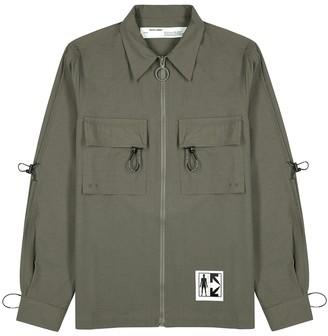 Off-White Recycle Key brushed twill overshirt