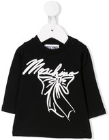 Moschino Kids logo and bow print T-shirt
