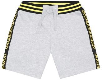 MOSCHINO BAMBINO Logo cotton shorts