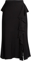 Alexander McQueen Ruffled high-rise midi skirt