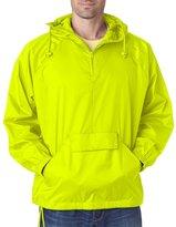 Ultraclub Mens 1/4-Zip Hooded Pullover Pack-Away Jacket 8925 - L