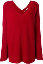 Stella McCartney ribbed oversized v-neck sweater