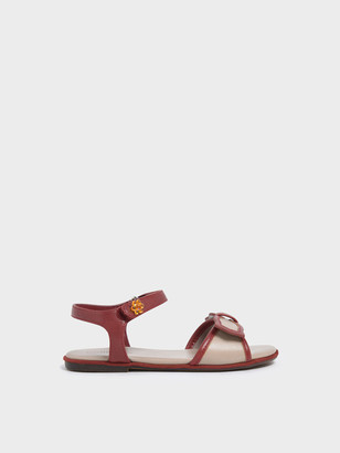 Charles & Keith Girls' Bow Detail Open Toe Sandals