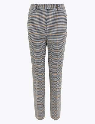 M&S CollectionMarks and Spencer PETITE Mia Slim Checked Trousers
